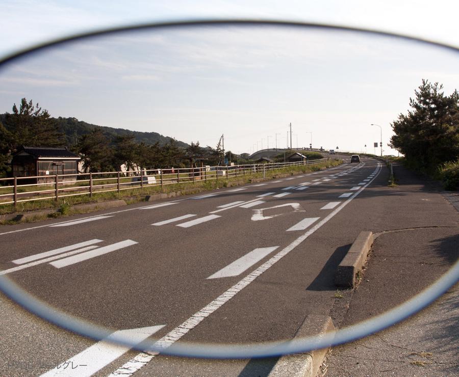 レンズカラー:HYDE クールグレーの見え方