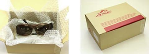 返送用の梱包の例