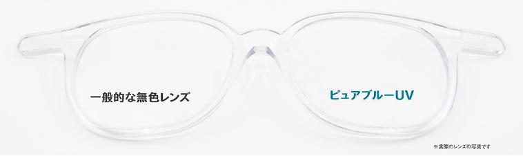 レンズの透明度の比較