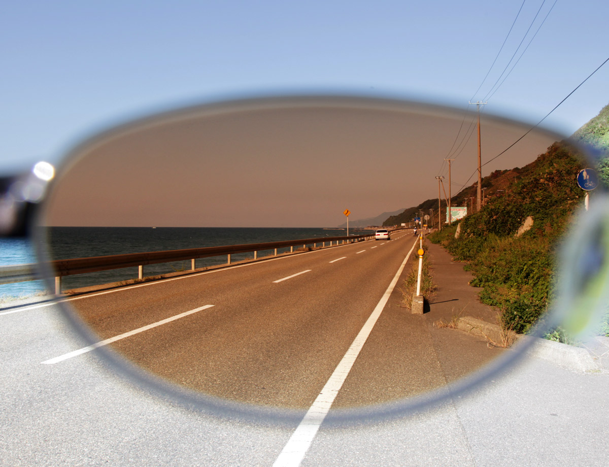 海岸線での見え方